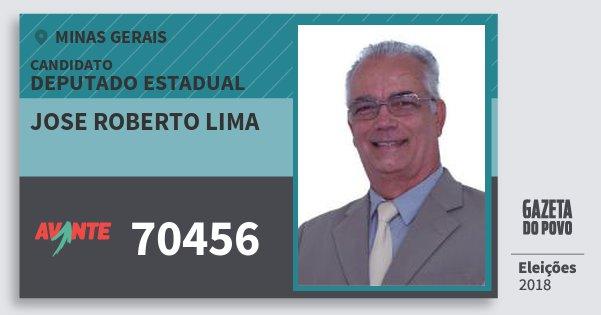 Santinho Jose Roberto Lima 70456 (AVANTE) Deputado Estadual | Minas Gerais | Eleições 2018