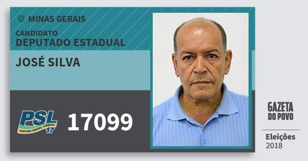 Santinho José Silva 17099 (PSL) Deputado Estadual | Minas Gerais | Eleições 2018