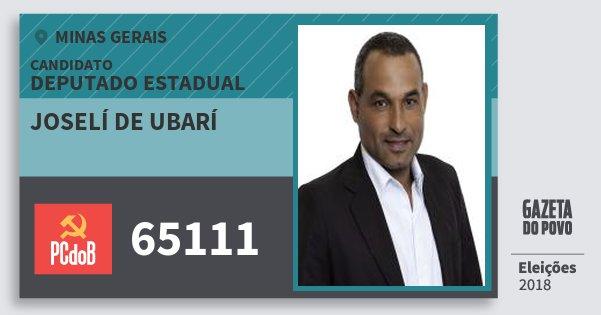 Santinho Joselí de Ubarí 65111 (PC do B) Deputado Estadual | Minas Gerais | Eleições 2018