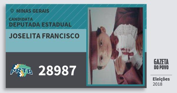 Santinho Joselita Francisco 28987 (PRTB) Deputada Estadual | Minas Gerais | Eleições 2018