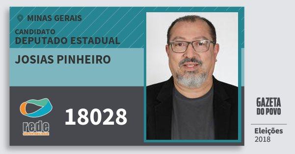 Santinho Josias Pinheiro 18028 (REDE) Deputado Estadual | Minas Gerais | Eleições 2018