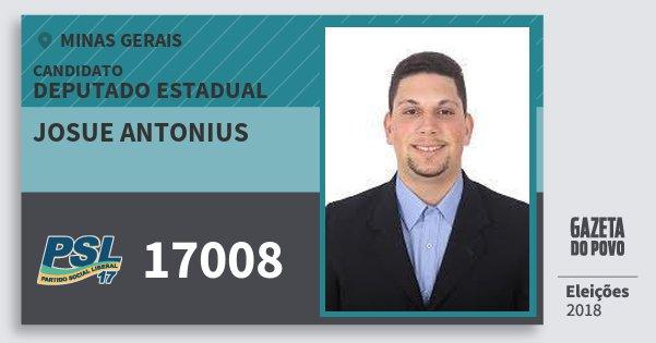 Santinho Josue Antonius 17008 (PSL) Deputado Estadual | Minas Gerais | Eleições 2018