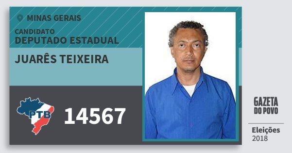 Santinho Juarês Teixeira 14567 (PTB) Deputado Estadual | Minas Gerais | Eleições 2018