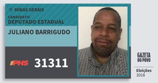 Santinho Juliano Barrigudo 31311 (PHS) Deputado Estadual | Minas Gerais | Eleições 2018
