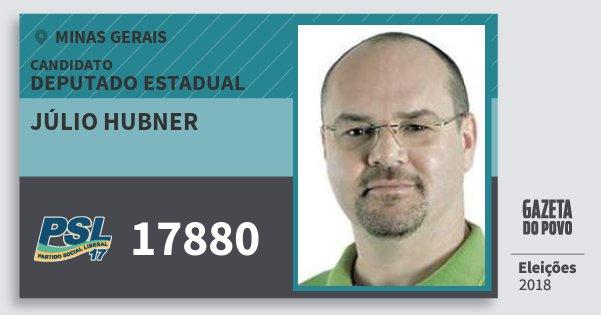 Santinho Júlio Hubner 17880 (PSL) Deputado Estadual | Minas Gerais | Eleições 2018