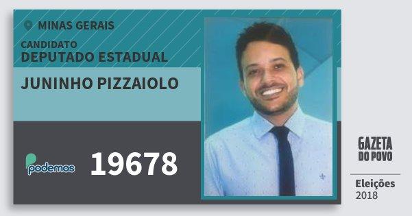 Santinho Juninho Pizzaiolo 19678 (PODE) Deputado Estadual | Minas Gerais | Eleições 2018
