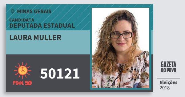 Santinho Laura Muller 50121 (PSOL) Deputada Estadual | Minas Gerais | Eleições 2018