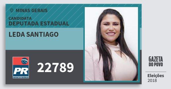Santinho Leda Santiago 22789 (PR) Deputada Estadual | Minas Gerais | Eleições 2018