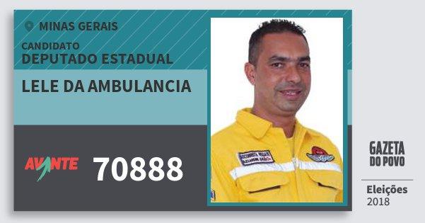 Santinho Lele da Ambulancia 70888 (AVANTE) Deputado Estadual | Minas Gerais | Eleições 2018