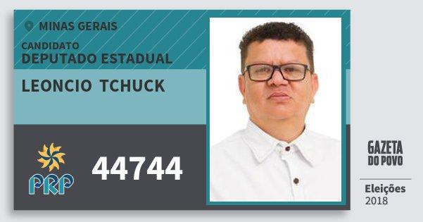 Santinho Leoncio  Tchuck 44744 (PRP) Deputado Estadual | Minas Gerais | Eleições 2018