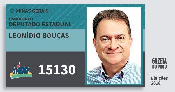 Santinho Leonídio Bouças 15130 (MDB) Deputado Estadual | Minas Gerais | Eleições 2018