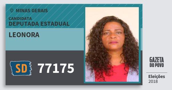 Santinho Leonora 77175 (SOLIDARIEDADE) Deputada Estadual | Minas Gerais | Eleições 2018