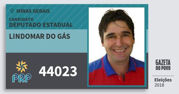 Santinho Lindomar do Gás 44023 (PRP) Deputado Estadual | Minas Gerais | Eleições 2018