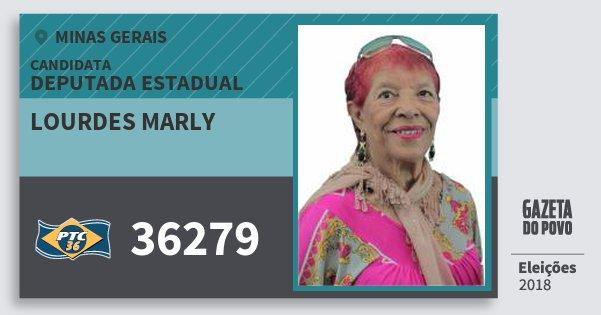 Santinho Lourdes Marly 36279 (PTC) Deputada Estadual | Minas Gerais | Eleições 2018