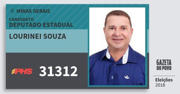 Santinho Lourinei Souza 31312 (PHS) Deputado Estadual | Minas Gerais | Eleições 2018