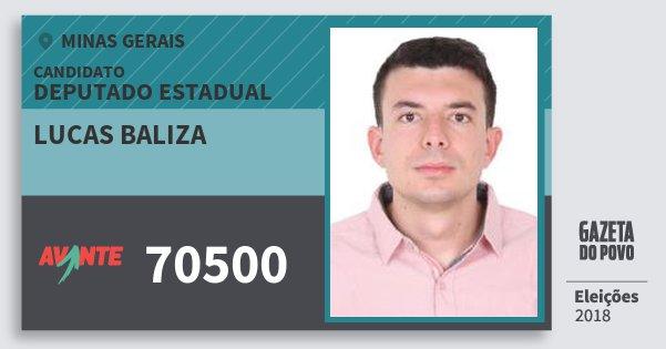 Santinho Lucas Baliza 70500 (AVANTE) Deputado Estadual | Minas Gerais | Eleições 2018