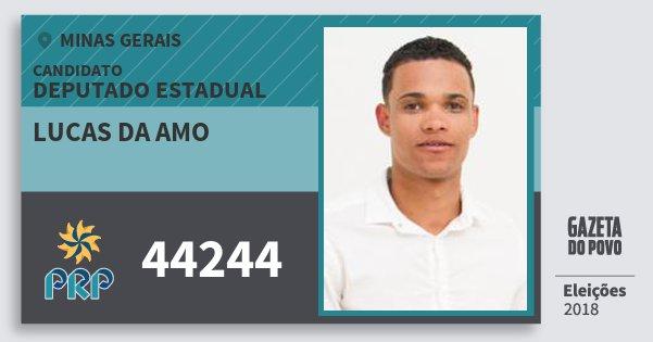 Santinho Lucas da Amo 44244 (PRP) Deputado Estadual | Minas Gerais | Eleições 2018