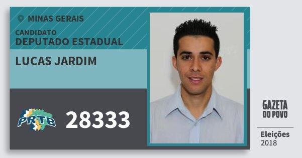 Santinho Lucas Jardim 28333 (PRTB) Deputado Estadual | Minas Gerais | Eleições 2018