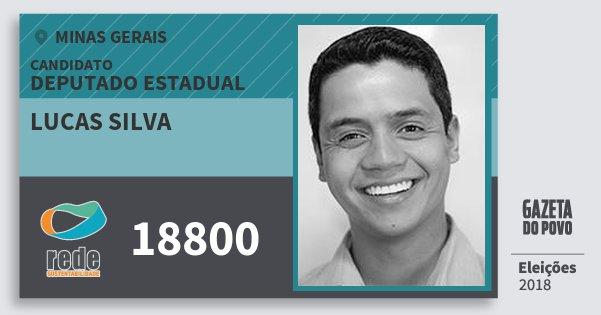 Santinho Lucas Silva 18800 (REDE) Deputado Estadual | Minas Gerais | Eleições 2018