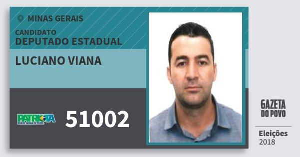 Santinho Luciano Viana 51002 (PATRI) Deputado Estadual | Minas Gerais | Eleições 2018
