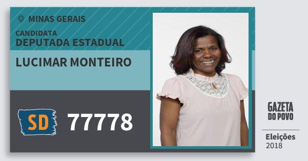 Santinho Lucimar Monteiro 77778 (SOLIDARIEDADE) Deputada Estadual | Minas Gerais | Eleições 2018