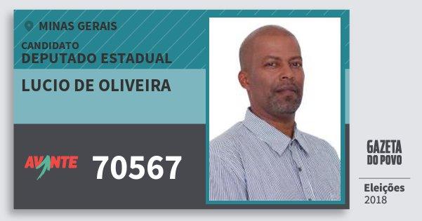 Santinho Lucio de Oliveira 70567 (AVANTE) Deputado Estadual | Minas Gerais | Eleições 2018