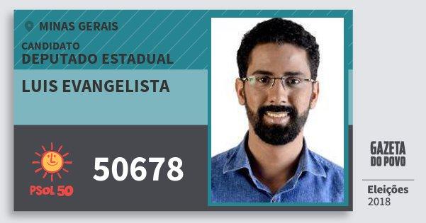 Santinho Luis Evangelista 50678 (PSOL) Deputado Estadual | Minas Gerais | Eleições 2018