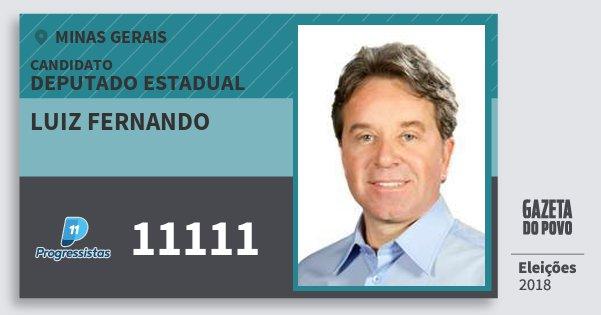 Santinho Luiz Fernando 11111 (PP) Deputado Estadual | Minas Gerais | Eleições 2018