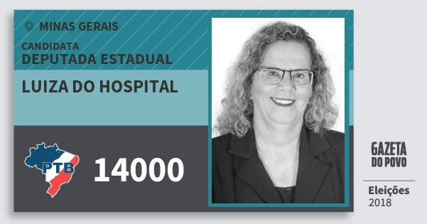 Santinho Luiza do Hospital 14000 (PTB) Deputada Estadual | Minas Gerais | Eleições 2018