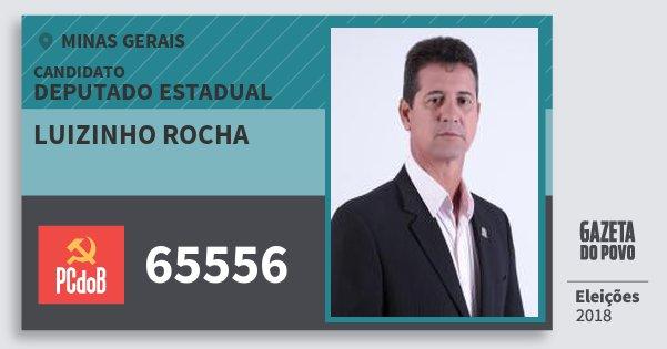 Santinho Luizinho Rocha 65556 (PC do B) Deputado Estadual | Minas Gerais | Eleições 2018