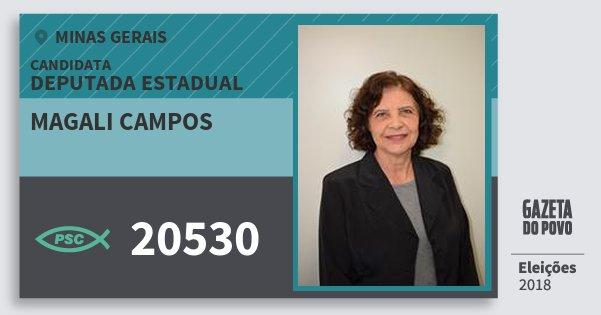 Santinho Magali Campos 20530 (PSC) Deputada Estadual | Minas Gerais | Eleições 2018