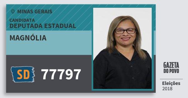 Santinho Magnólia 77797 (SOLIDARIEDADE) Deputada Estadual | Minas Gerais | Eleições 2018