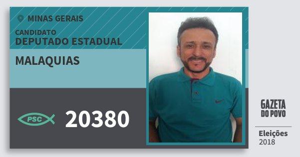 Santinho Malaquias 20380 (PSC) Deputado Estadual | Minas Gerais | Eleições 2018