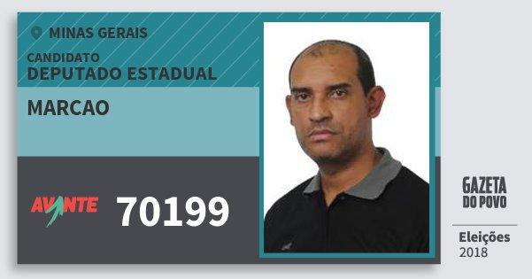 Santinho Marcao 70199 (AVANTE) Deputado Estadual | Minas Gerais | Eleições 2018