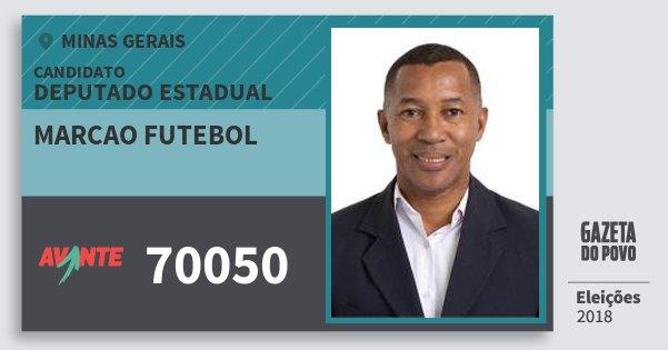 Santinho Marcao Futebol 70050 (AVANTE) Deputado Estadual | Minas Gerais | Eleições 2018