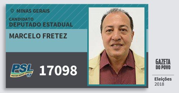 Santinho Marcelo Fretez 17098 (PSL) Deputado Estadual | Minas Gerais | Eleições 2018