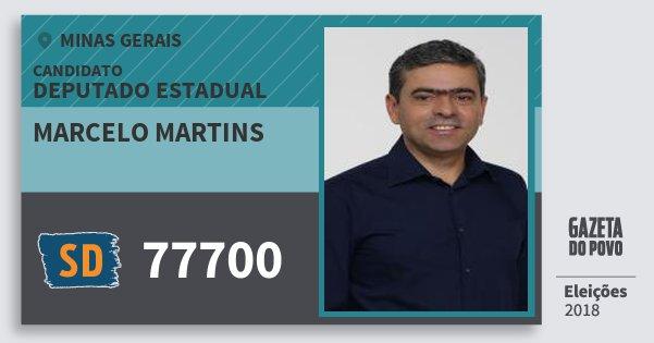 Santinho Marcelo Martins 77700 (SOLIDARIEDADE) Deputado Estadual | Minas Gerais | Eleições 2018