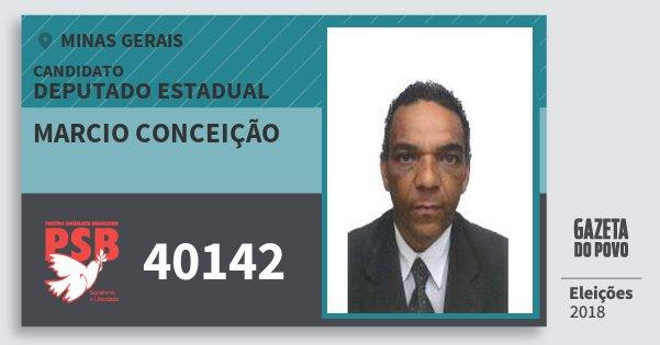 Santinho Marcio Conceição 40142 (PSB) Deputado Estadual | Minas Gerais | Eleições 2018
