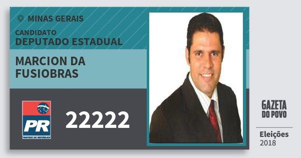 a6fd2a416c2e9 Santinho Marcion da Fusiobras 22222 (PR) Deputado Estadual   Minas Gerais    Eleições 2018. Compartilhe este candidato