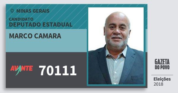 Santinho Marco Camara 70111 (AVANTE) Deputado Estadual | Minas Gerais | Eleições 2018