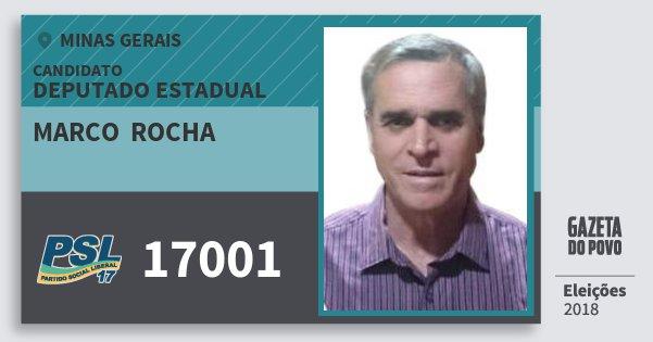 Santinho Marco  Rocha 17001 (PSL) Deputado Estadual | Minas Gerais | Eleições 2018