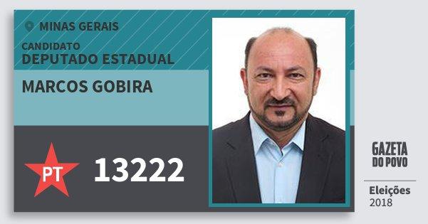 Santinho Marcos Gobira 13222 (PT) Deputado Estadual | Minas Gerais | Eleições 2018