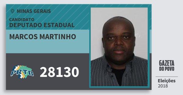 Santinho Marcos Martinho 28130 (PRTB) Deputado Estadual | Minas Gerais | Eleições 2018