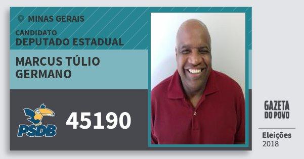 Santinho Marcus Túlio Germano 45190 (PSDB) Deputado Estadual | Minas Gerais | Eleições 2018
