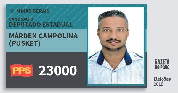 Santinho Márden Campolina (Pusket) 23000 (PPS) Deputado Estadual | Minas Gerais | Eleições 2018