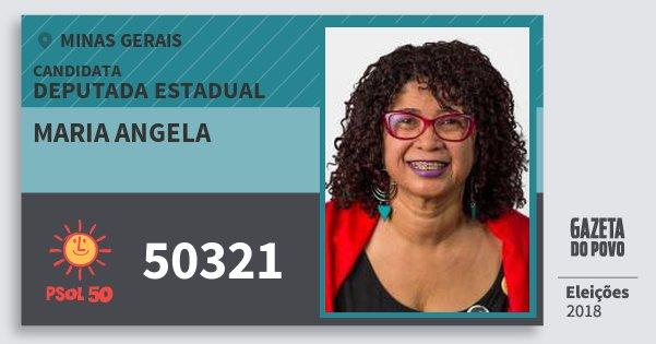 Santinho Maria Angela 50321 (PSOL) Deputada Estadual | Minas Gerais | Eleições 2018