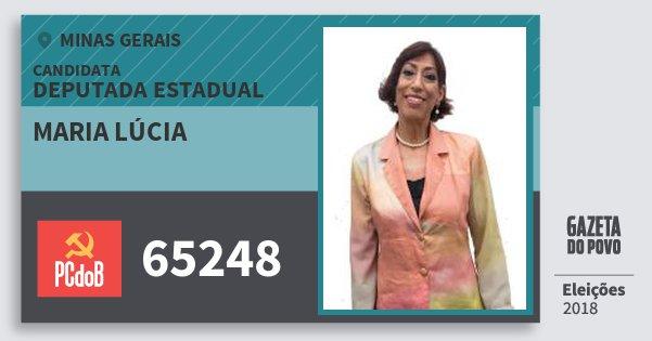Santinho Maria Lúcia 65248 (PC do B) Deputada Estadual | Minas Gerais | Eleições 2018
