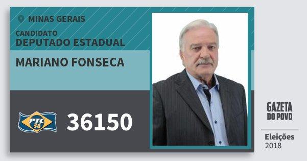Santinho Mariano Fonseca 36150 (PTC) Deputado Estadual | Minas Gerais | Eleições 2018