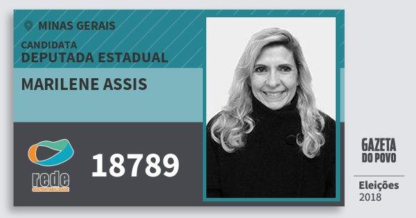 Santinho Marilene Assis 18789 (REDE) Deputada Estadual | Minas Gerais | Eleições 2018