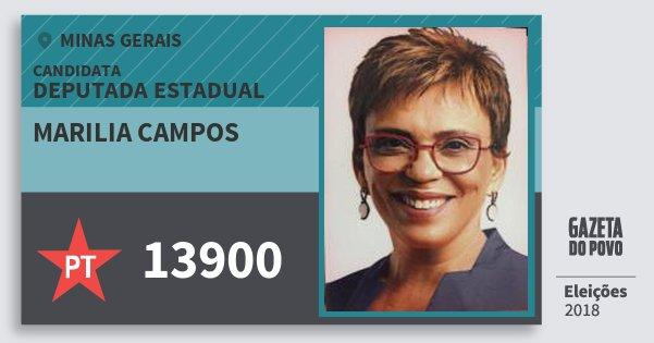 Santinho Marilia Campos 13900 (PT) Deputada Estadual | Minas Gerais | Eleições 2018